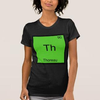 T-shirt Th - pièce en t drôle de symbole d'élément de