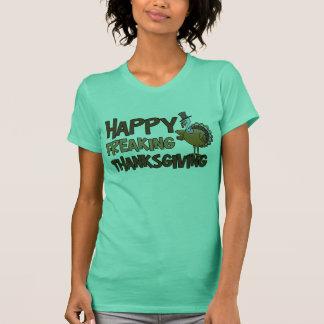 T-shirt Thanksgiving Freaking heureux