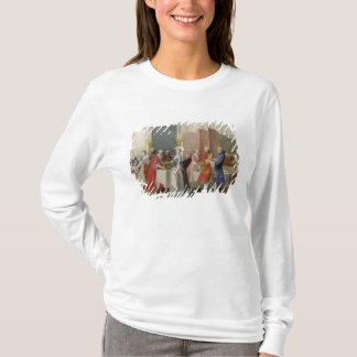 T-shirt Thé anglais dans le DES Quatre Glaces de salon