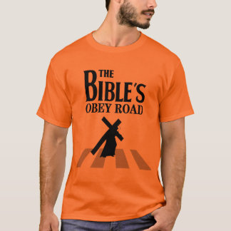 "T-shirt ""The Bible's Obey Road"""