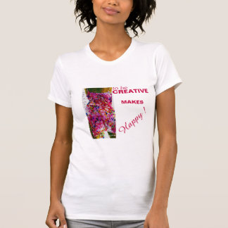 "T-shirt The little tee shirt ""to be creative..."""