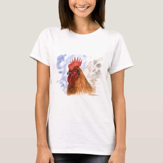 T-shirt The Rooster design by Schukina A087