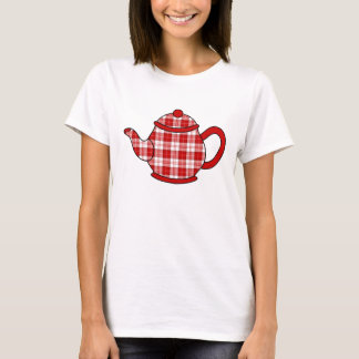 T-shirt Théière de plaid de tartan de Menzies