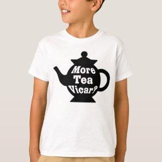 T-shirt Théière - plus de curé de thé ? - Noir et blanc