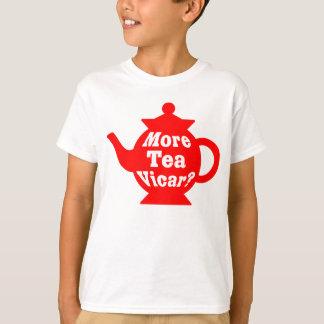 T-shirt Théière - plus de curé de thé ? - Rouge et blanc