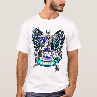 T-shirt Théorie blindée (ainsi métal) White T épique