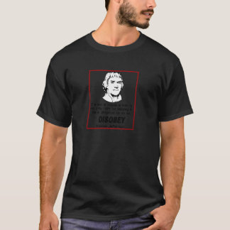 T-shirt Thomas Jefferson DÉSOBÉISSENT