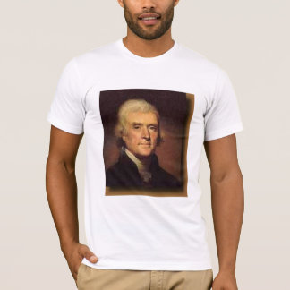 T-shirt Thomas Jefferson, nos amitiés… - customisé