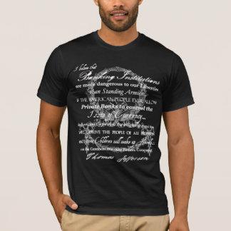 T-shirt Thomas Jefferson sur des banques