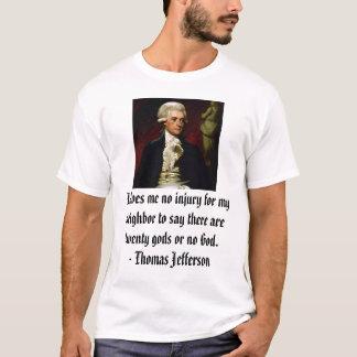 T-shirt Thomas Jefferson sur la liberté religieuse