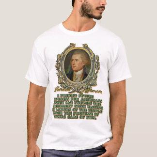 T-shirt Thomas Jefferson sur les travaux gaspillés