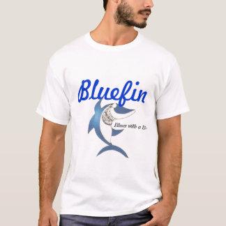 T-shirt Thonine, bleus avec une morsure