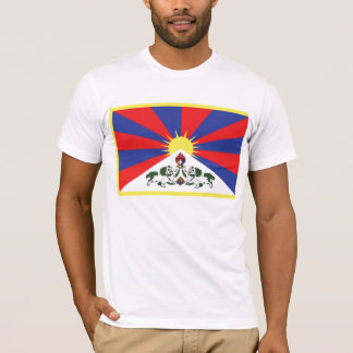 T-shirt tibétain de drapeau
