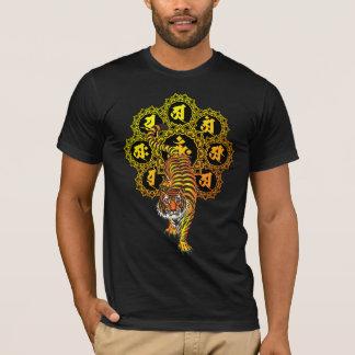T-shirt tigre de mandala de taizo