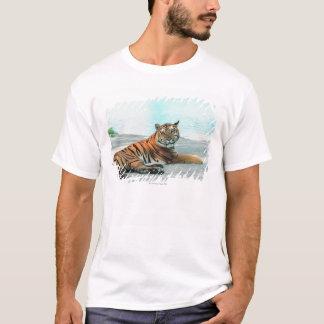 T-shirt Tigre par la rivière