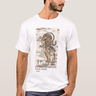 T-shirt Tigre sur la falaise