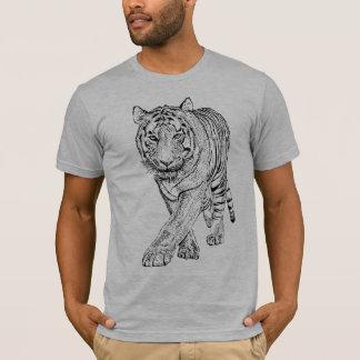 T-shirt Tigre tiré par la main