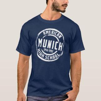 T-shirt Timbre américain A004 de lycée de Munich