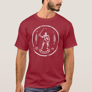 T-shirt Timbre rond de chevalier médiéval