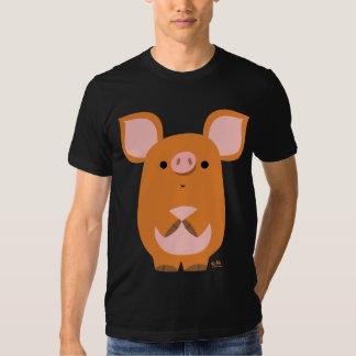 T-shirt timide de coutume de porc de bande
