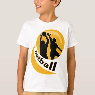 T-shirt Tir de joueur de net-ball bloquant le tir