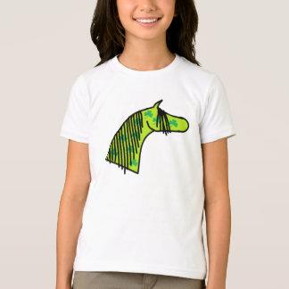 T-shirt tiré par la main mignon d'Arabe de