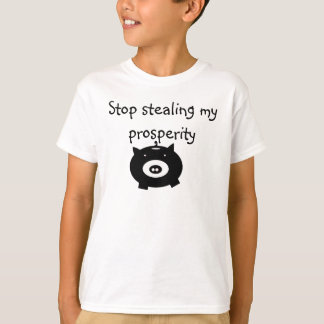 T-shirt tirelire, arrêt volant ma prospérité
