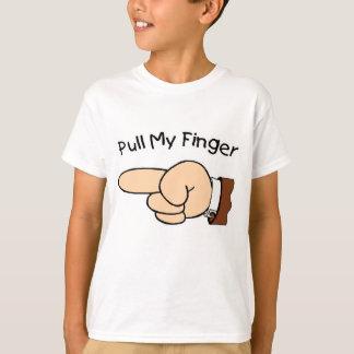 T-shirt Tirez ma chemise d'enfants de doigt