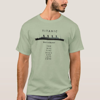 T-shirt Titanic - elle était très bien quand elle est