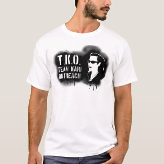 T-shirt TKO - Pochoir noir