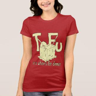 T-shirt Tofu c'est what pour le dîner