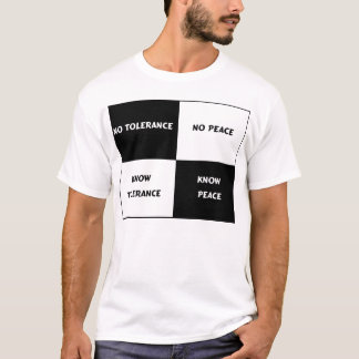 T-shirt Tolérance = paix