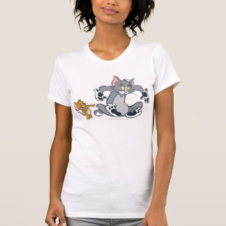 T-shirt Tom et chat noir de patte de Jerry