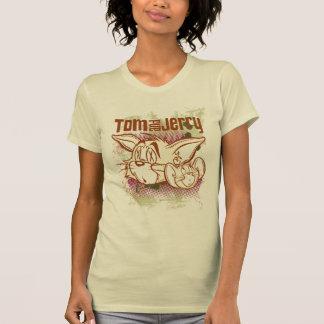 T-shirt Tom et Jerry Brown et vert