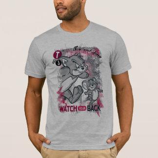 T-shirt Tom et Jerry observent votre dos