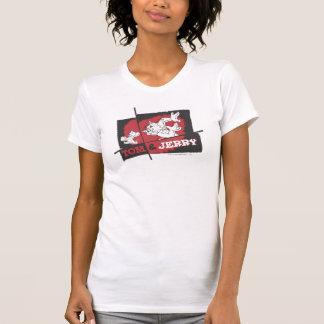 T-shirt Tom et Jerry rouges et noirs
