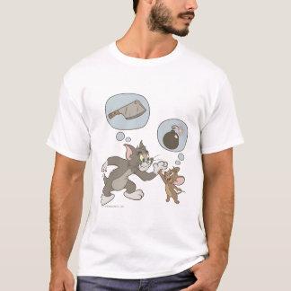 T-shirt Tom et pensées de mal de Jerry