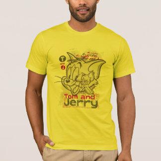 T-shirt Tom et rose et vert de Jerry