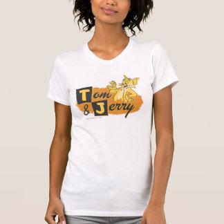 T-shirt Tom et souris de Jerry dans le logo de patte