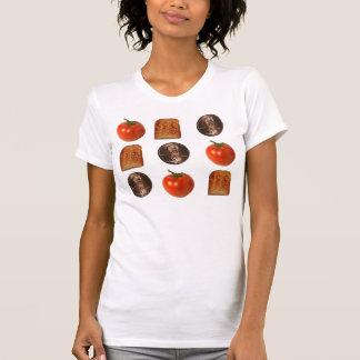 T-shirt Tomates, penny, pain grillé