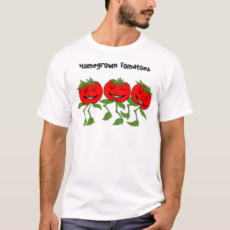 T-shirt tomates, tomates du cru