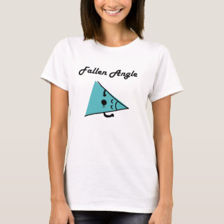 T-shirt tombé de calembour d'angle/ange