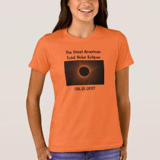 T-shirt total de l'éclipse solaire des enfants