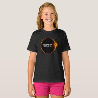 T-shirt total d'éclipse solaire de totalité le 21