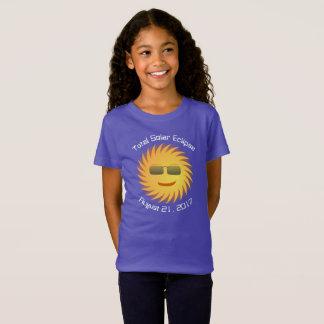 T-shirt total d'éclipse solaire - pourpre