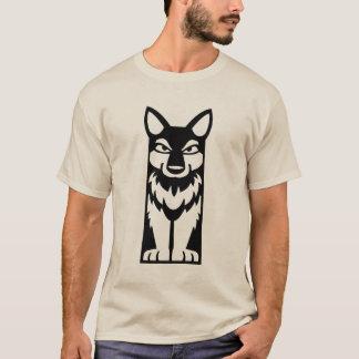 T-shirt Totem minuscule - loup - chemise