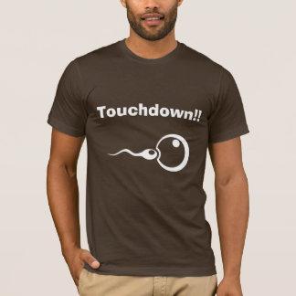T-shirt Touchdown ! ! Papa frais à être chemise