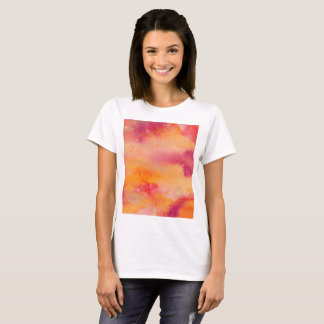 T-shirt Touché par couleur pour aquarelle du feu