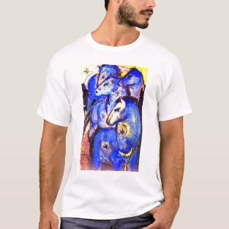 T-shirt Tour des chevaux bleus par Franz Marc