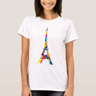 T-shirt Tour Eiffel abstrait, France, Paris